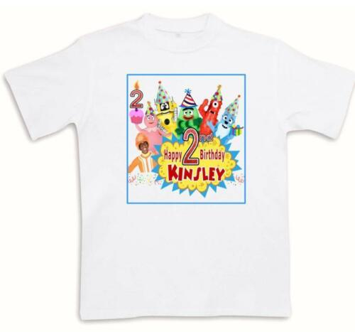 YO GABBA GABBA BIRTHDAY T-SHIRT Personalized Any Name//Age//Family Toddler Adult