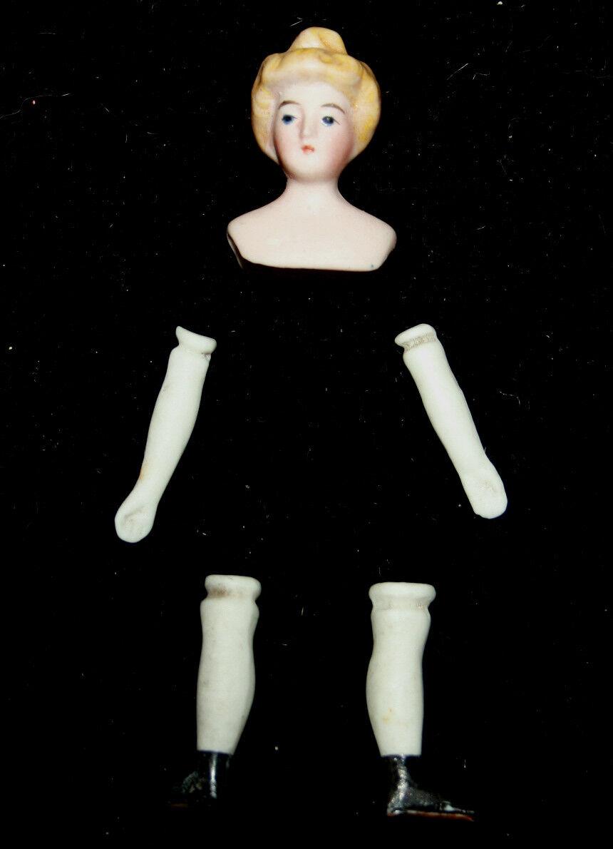 Antique bisque  bambola-house bambola parts head arms legs blond bun hairstyle vtg 1890  vendita economica