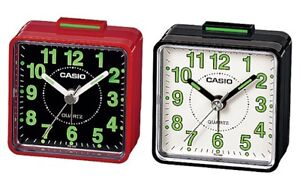 Casio-TQ140-Travel-Quartz-Beep-Alarm-Clock-Black-White-Red-Black-Genuine-New