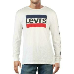 Levi-039-s-Mens-T-Shirts-Classic-White-Size-XL-Retro-Logo-Graphic-Tee-34-166