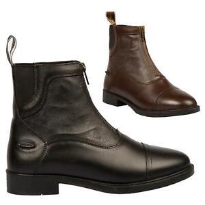 B-amp-A-Mia-Front-Zip-Jodhpur-Boots-Ladies-Womens-Leather-Short-Paddock-Horse-Riding