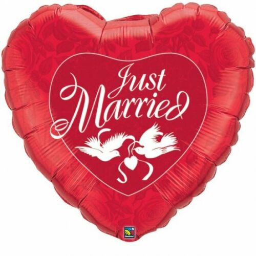 Wedding Day Just Married Ceremony Blessing Bride Groom Helium Party Balloons