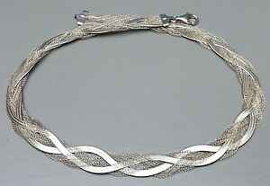 Vintage-Silber-Collier-925-Silber-punziert-Hersteller-Punze-47-cm-1-3-cm-A328