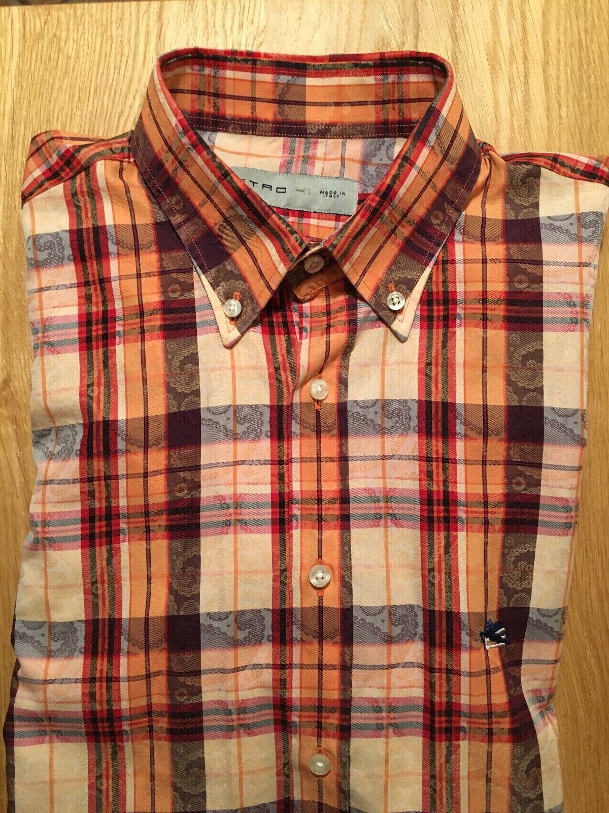 ETRO Herrenhemd, Gr. 41, langarm, getragen, wie neu