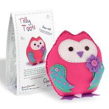 Tilly Toots Peluche Rosa Feltro GUFO kit da cucito per età 8+ da Clara + GRATIS Segnalibro