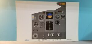 DELTA AIRLINES SET OF 6 VISUAL EFIS TRAINING POSTERS FOR 737-300