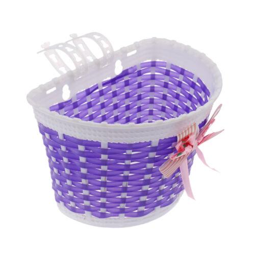 2Pcs Kids Girls Bike Bicycle Front Basket Shopping Holder Case Easy Mount