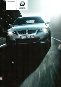 BMW-M5-Saloon-5-0-V10-UK-Market-Brochure-2004-60-Pages-Inc-Colour-amp-Trim-Charts