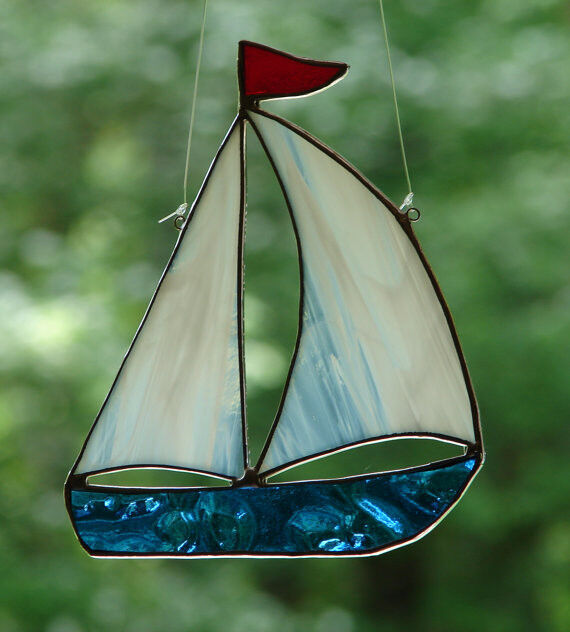 Stained Glass By The Sea Sailboat