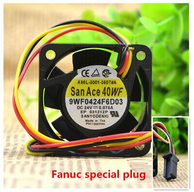 9WF0424F6D03 A90L-0001-0507#A DC 24V 0.076A Ordinary 3pin plug For Sanyo