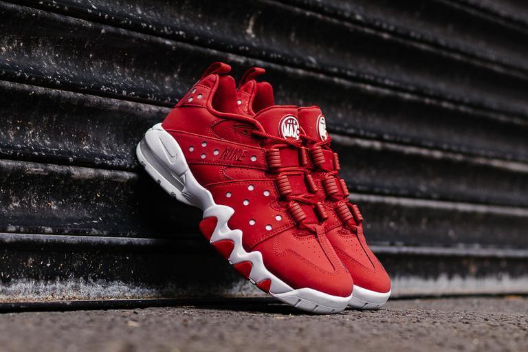 Nike air max bc '94 basso palestra rosso - bianco - scarpe da basket 917752-600 uomini sz 8,5