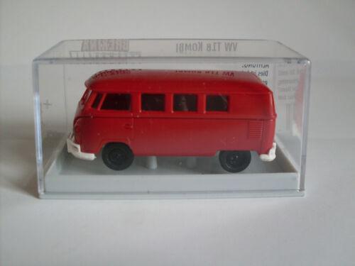 """Brekina 31553 VW t1b /""""ECONOMY/"""" Rosso h0 auto modello 1:87"""
