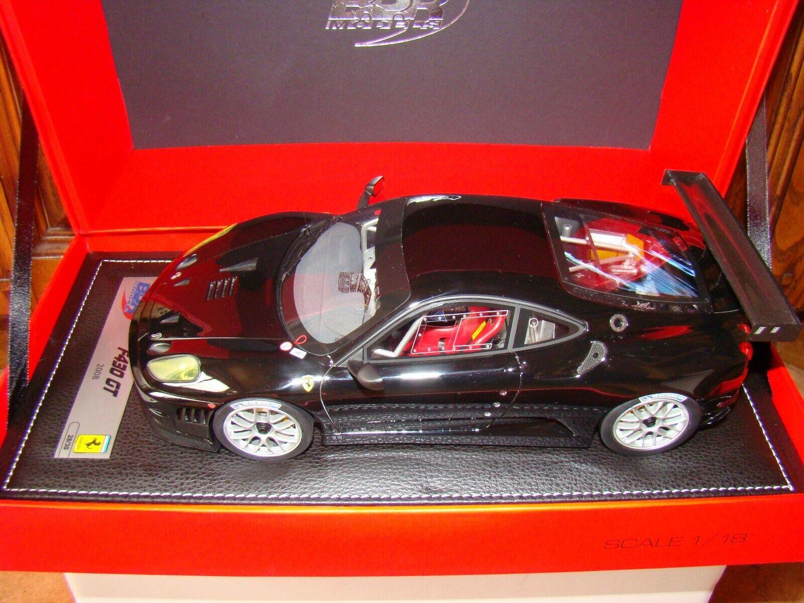 Ferrari F430 Gt2 2008 Nueva Engine nero Bbr 1 18 Eme Edición Limitada Raro