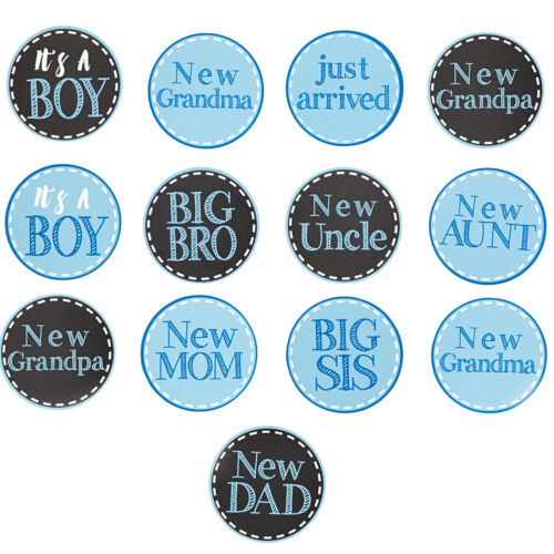 Mud Pie MK6 Newborn Baby It/'s A Boy Arrival Outfit Clothing Stickers 1002018