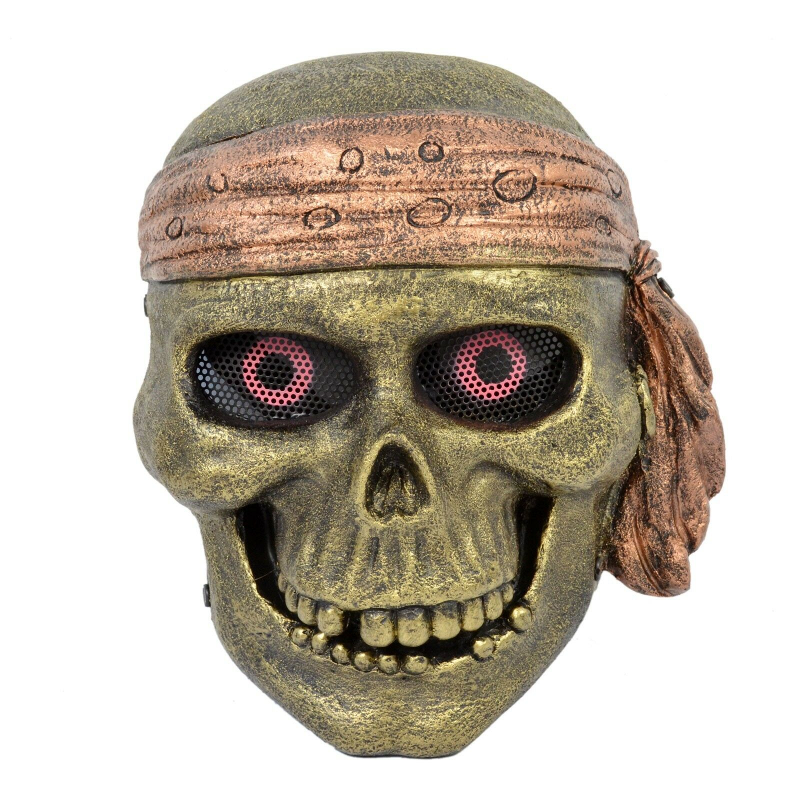 NEW golden Airsoft CS Paintball Wire Mesh Predection King Of Pirate Mask Cosplay
