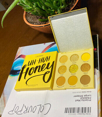 Colourpop Uh- Huh Honey Golden Yellow Eyeshadow Palette