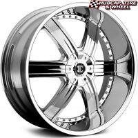 2crave No4 Chrome 24x10 Custom Wheels Rims (set Of 4) - Free U.s. Ship -
