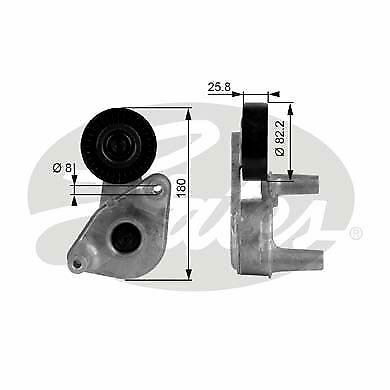 GATES T38149 Tensioner Pulley v-ribbed belt