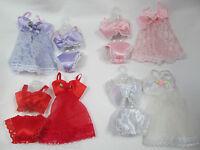 Barbie Doll's Clothing Lace Lingerie Underwear Bra Knickers Babydoll 4 Piece Set