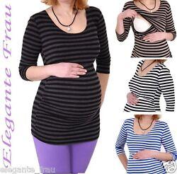 3in1 Stillshirt Umstands Shirt 3/4 Longshirt StilltopTunika Stillbluse Pullover