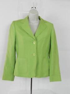 Klein Grenen Bureau.Details About Anne Klein Suit Womens Green Linen Blend Blazer Office Career Size 2 Lined
