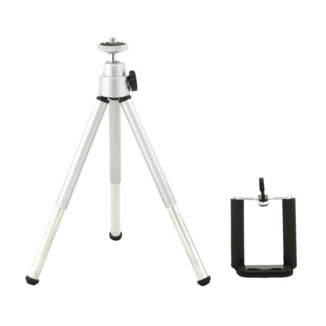 360°Rotatable Metal Stand Tripod Mount + Phone Holder for iPhone Samsung HTC 5G