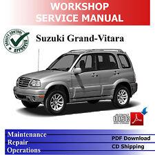 *OFFICIAL*SUZUKI GRAND VITARA SQ/JA 98-'05 WORKSHOP MANUAL PDF on CD repair serv