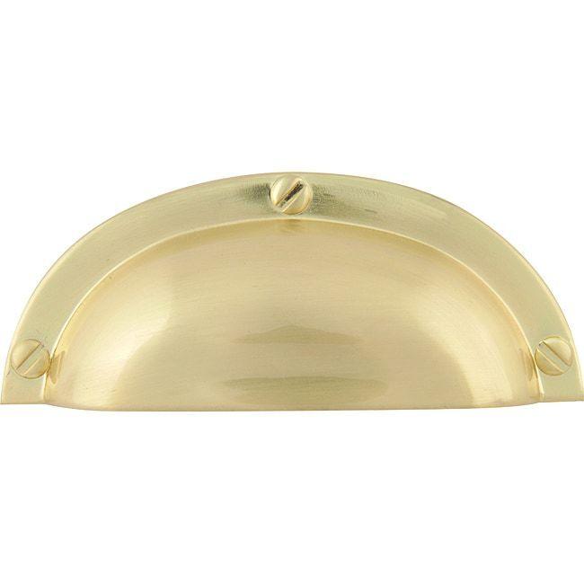 "Baldwin 4462-050 Satin brass 3"" CTC PLAIN Cup Pull, QTY 20"