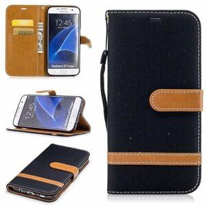 Samsung-Galaxy-S7-Edge-Huelle-Case-Handy-Cover-Schutz-Tasche-Schutzhuelle-Schwarz