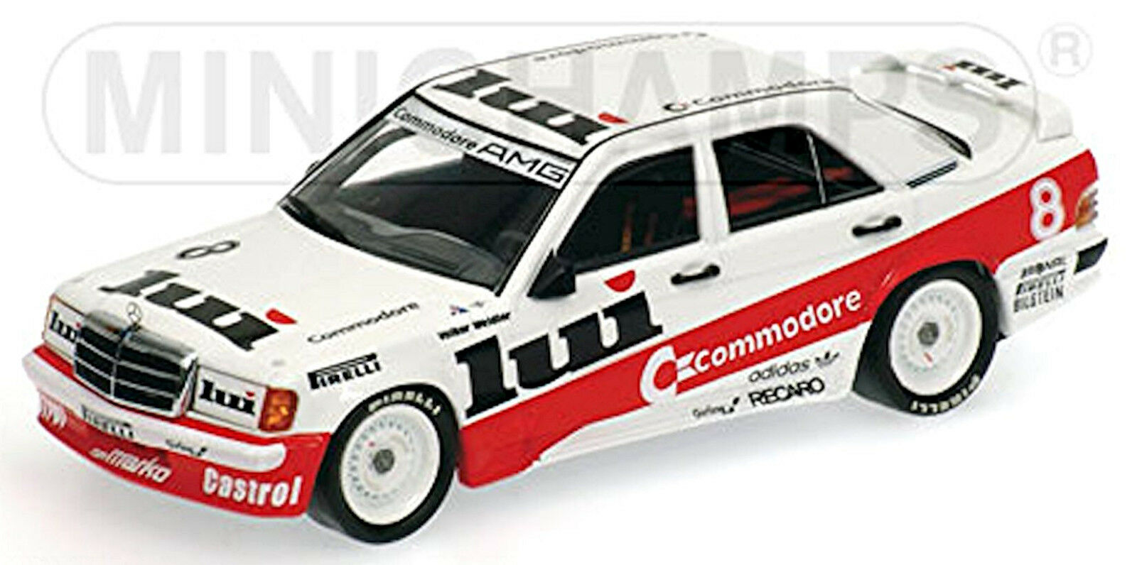 Mercedes 190 E 2,3-16 DTM 1986 V. Walker  8 Commodore lui 1 43 Minichamps