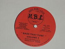 "BASS THAT TUNE VOLUME 1 FELIX SAMA / NICK BABY LOVE HOUSE THAT TUNE 12"" RECORD"