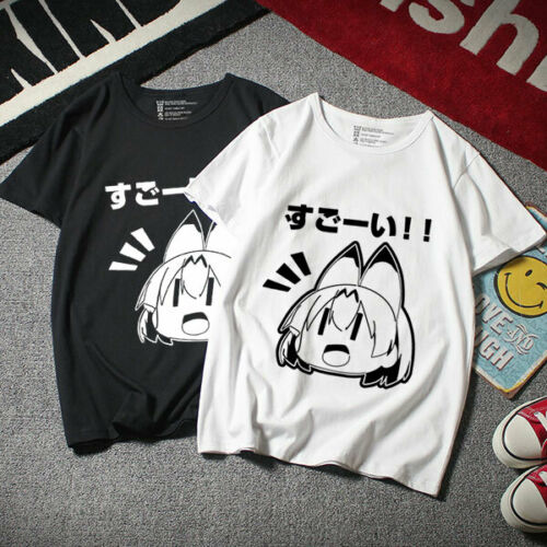 Anime Kemono Friends Cosplay Unisex College Casual T-shirt Short Sleeve TEE Tops