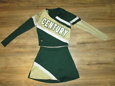 "3 Piece Complete REAL High School Cheerleader Uniform 34"" Top 25"" Waist CENTURY"