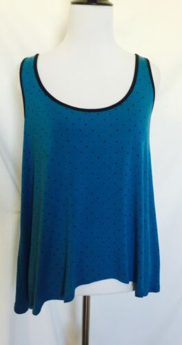 S 39 25 Size Retails amp; Swing Kensie Top Black Spot Price Blue Sleeveless xUww78v