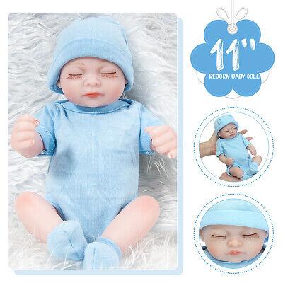 "11/"" Handmade Real Looking Newborn Baby Vinyl Silicone Realistic Reborn Doll Girl"
