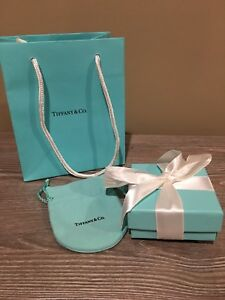 c75db2b822f1a Details about Authentic Tiffany & Co Gift Box, Drawstring Pouch, Gift Bag &  Ribbon