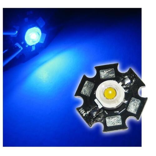 10 x LED de alto rendimiento chip 1w azul highpower Star LEDs