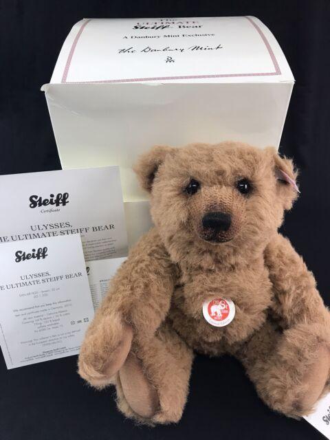 """STEIFF /""""TEDDY BEAR LLADRO ORNAMENT/"""" EAN 676901 2007 LIM ED 12 CM GOLD TRIM"""