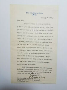 Leonard-Wood-typed-letter-signed-by-the-Governor-General-of-the-Philippines