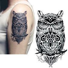 Owl Tattoo Sticker Body Art Men Women Arm Temporary Tattoo Fake Tatoo Removable