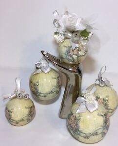 Vtg-1991-Patricia-Reach-Christmas-Ornament-Tomorrow-Today-Corp-Wedding-Keepsakes