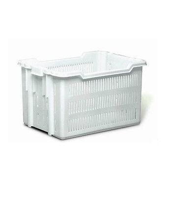 Cesta Pane Transport Container Duraflex Bianca Forata 50x40 Cm X H 30cm 50kg Fresco In Estate E Caldo In Inverno