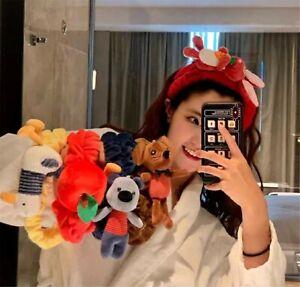 Women-Spa-Bath-Shower-Fleece-Makeup-Animal-Face-Wash-Hair-head-band-Headband