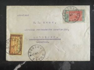 1926 Duala Cameroon Protestant Missionary Cover Lolodorf Domestic