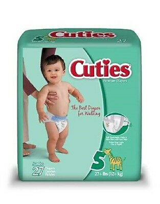 CCC10 Case of 108 Newborn 0-10 lbs. Cuties Complete Care Baby Diaper SIZE N