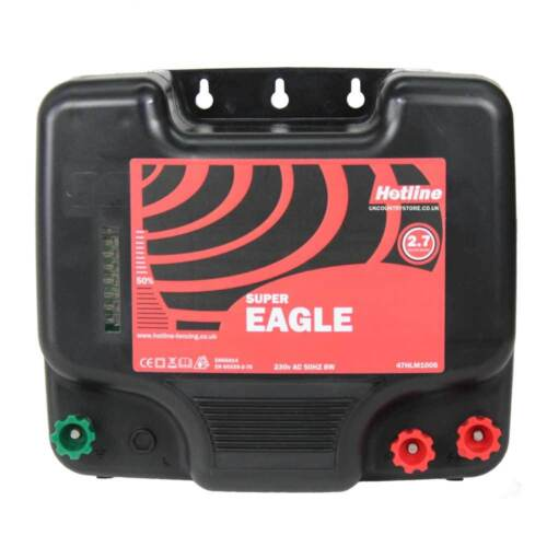 Hotline Super Eagle Mains Electric Fence Energiser LOW Power Settings HIGH