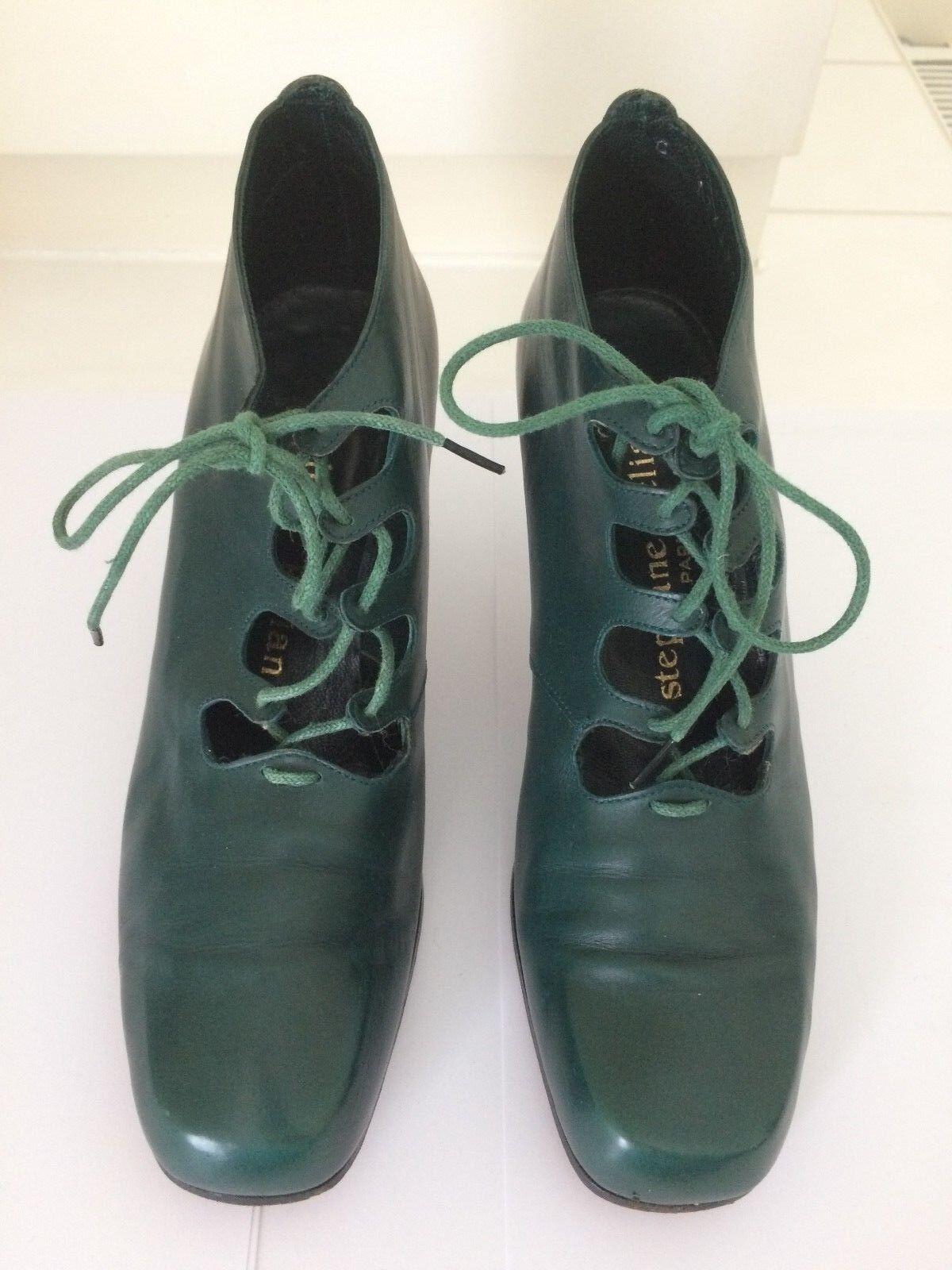 Stephane Leather Kélian Green Leather Stephane Shoes size 37,5 () 51ac3f