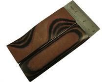 Pair of Brown&Black Canvas Micarta Scales Handle Making Blanks BushCrafts 5007-3