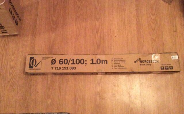 Bosch Worcester 7716191083 60/100mm 1 Meter Flue Extension - BRAND NEW