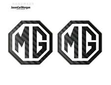 MG TF LE500 Front & Rear Logo Badge Insert Set 70mm Styled Black Carbon White
